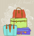 suitcases vector image vector image
