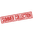 summer collection stamp vector image