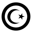 symbol of islam crescent and star with five vector image vector image