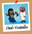 United Arab Emirates travel polaroid people vector image