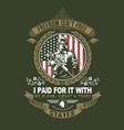 veteran soldier green navy vector image vector image