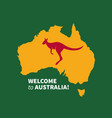 welcome to australia poster vector image