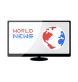 world news symbol vector image