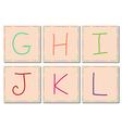 G to L alphabets set 2 vector image