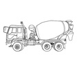 cement mixer truck on white vector image