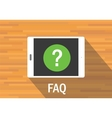 faq frequently asked question vector image