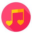 music circle icon vector image