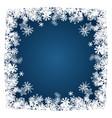 christmas card snowflakes frame on blue vector image
