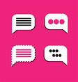 0810 speech bubbles on pink vector image