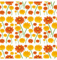 a daisy flower seamless pattern vector image vector image