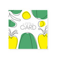 abstract card with green and yellow vegetables vector image vector image