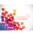 abstract puzzle background vector image vector image