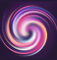 abstract striped colorful spin spiral curled vector image