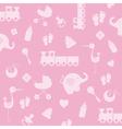 Background baby girl vector image vector image