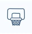 Basketball hoop sketch icon vector image vector image