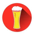beer in glass icon Flat vector image vector image