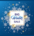 blue christmas background for winter sale vector image vector image