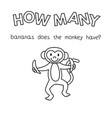 cartoon monkey counting game coloring book vector image