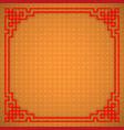 chinese seamless pattern with frame and shadow vector image