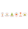 christmas labels set isolated on white background vector image