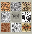 collection of eight seamless patterns with vector image vector image