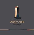 Creative logo for candles shop vector image