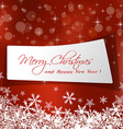 cute Christmas message in red background vector image vector image