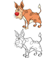 Cute Golden Jackal Cartoon vector image