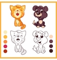 Cute little pets Cartoon characters vector image vector image