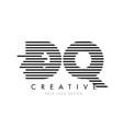 dq d q zebra letter logo design with black and vector image