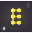 E letter logo template vector image vector image