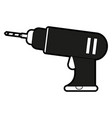electric drill tool vector image