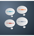 Feedback Icons - Paper Bubbles vector image vector image