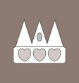 flat icon design collection crown silhouette vector image vector image