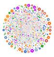 flower fireworks sphere vector image vector image
