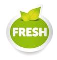 fresh food label vector image vector image
