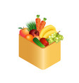 fresh vegetables in box realistic vector image vector image