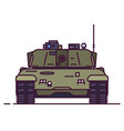 front view of main battle tank vector image vector image