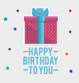 gift box present birthday card vector image vector image