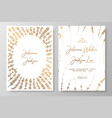gold wedding invitation with lavenders gold cards vector image vector image