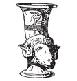greek vase is a drinking horn often shaped vector image vector image