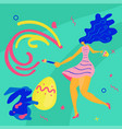 happy easter square greeting banner vector image vector image