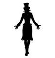 Hat woman silhouette vector image vector image