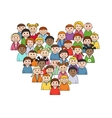 Heart shape with children vector image vector image