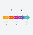 infographics 5 options vector image