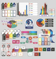 infographics for business presentations vector image vector image
