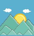 landscape mountains scene icon vector image