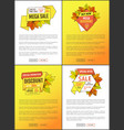leaflets set limited time super offer autumn sale vector image vector image