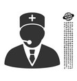 medical manager icon with job bonus vector image vector image