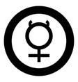 mercury symbol icon black color simple image vector image